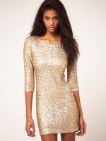 Короткое прямое платье
