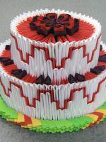 Модульное оригами - торт
