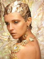 Осенняя вечеринка – золотой макияж