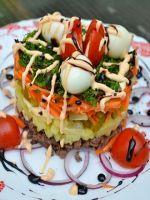 Салат из куриной печени – рецепт