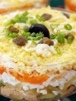 Салат с печенью трески – рецепт