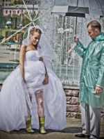 Свадебная фотосессия в дождь
