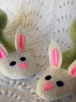 Тапочки-зайчики своими руками