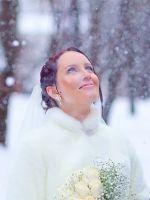 Зимние свадебные фотосессии