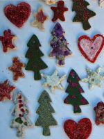Рождественские поделки из соленого теста