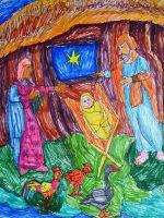 Рождественские рисунки детей