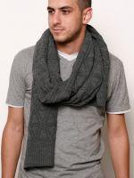 Узоры спицами для мужских шарфов