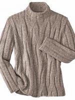Узоры спицами для мужских свитеров