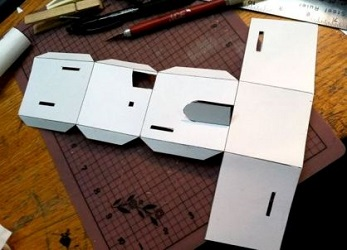 как сделать дом из бумаги фото 9