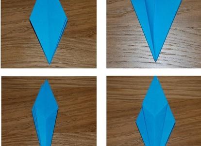 Как сделать лилию из бумаги 14