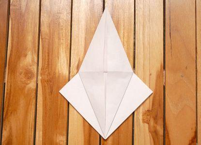 как сделать журавлика из бумаги фото 13