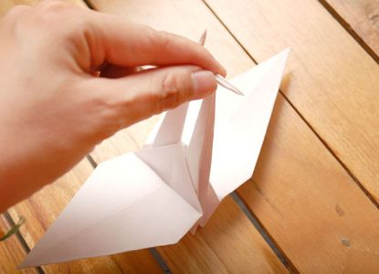 как сделать журавлика из бумаги фото 21