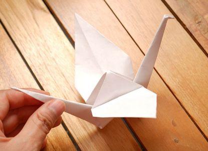 как сделать журавлика из бумаги фото 22