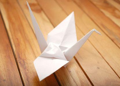 как сделать журавлика из бумаги фото 24