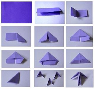 поделки из треугольных модулей фото 1