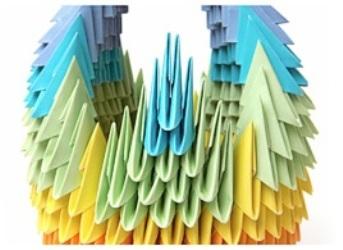 поделки из треугольных модулей фото 24