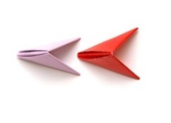 поделки из треугольных модулей фото 25