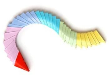 поделки из треугольных модулей фото 26