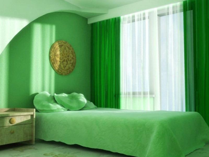 Спальня салатовая дизайн фото