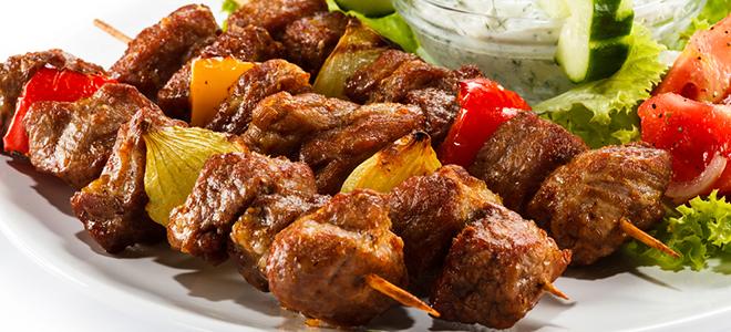 Быстрый и вкусный шашлык из свинины