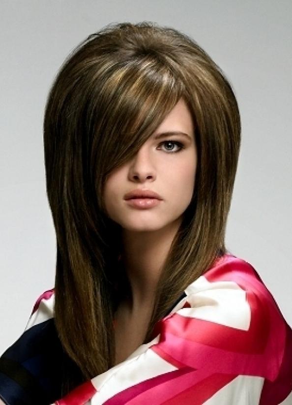 Объёмные причёски на длинные волосы с чёлкой фото