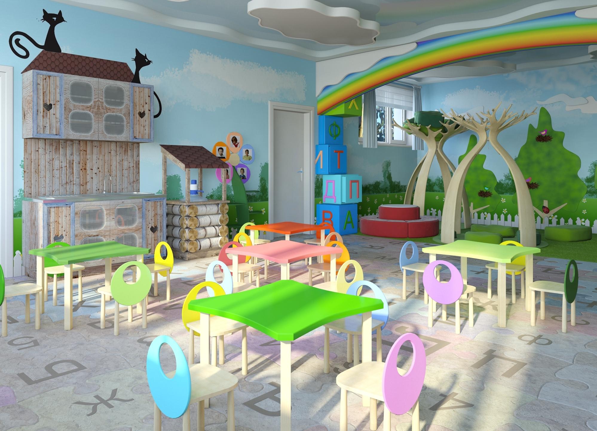 Дизайн группы детского сада фото