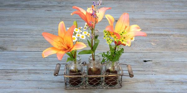 Освежите вазу с цветами