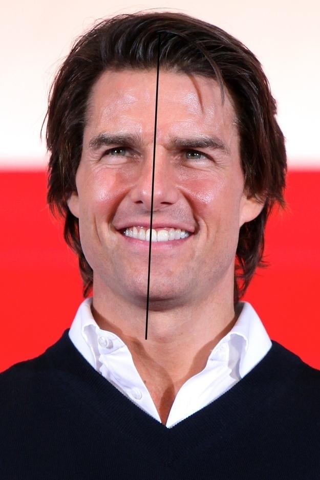 У Тома Круза асимметричное лицо