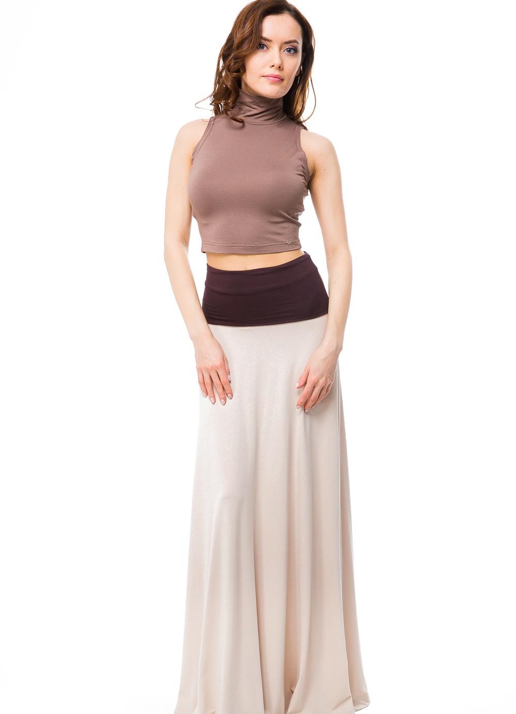 С чем носить юбку с поясом на резинке