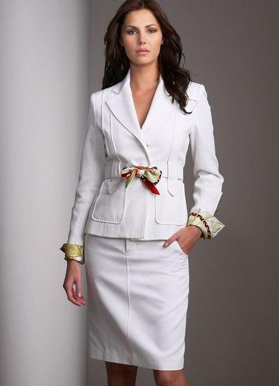 летний деловой костюм женский фото
