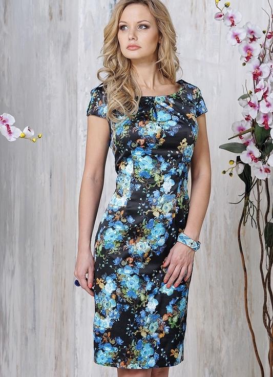 Фото платья из цветной ткани
