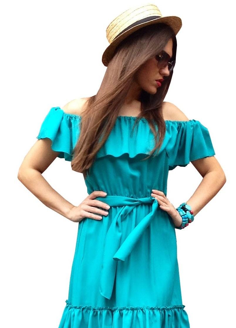 Летние платья с открытыми плечами фото