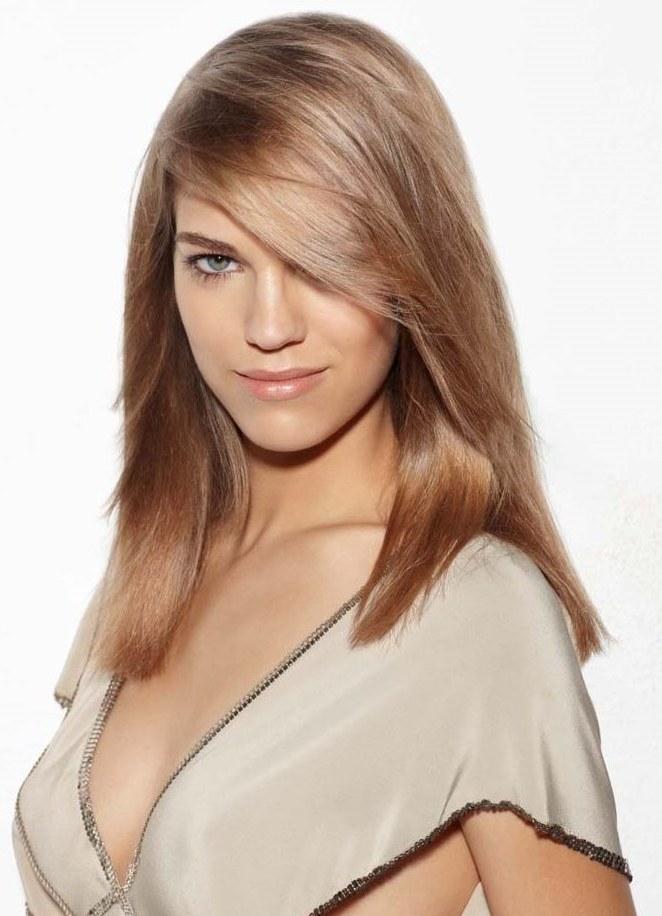Теплый бежевый цвет волос
