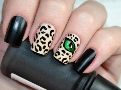 леопардовый педикюр фото