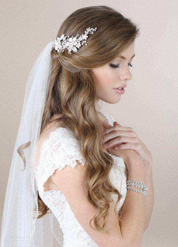 Свадебные прически под фату на средние волосы