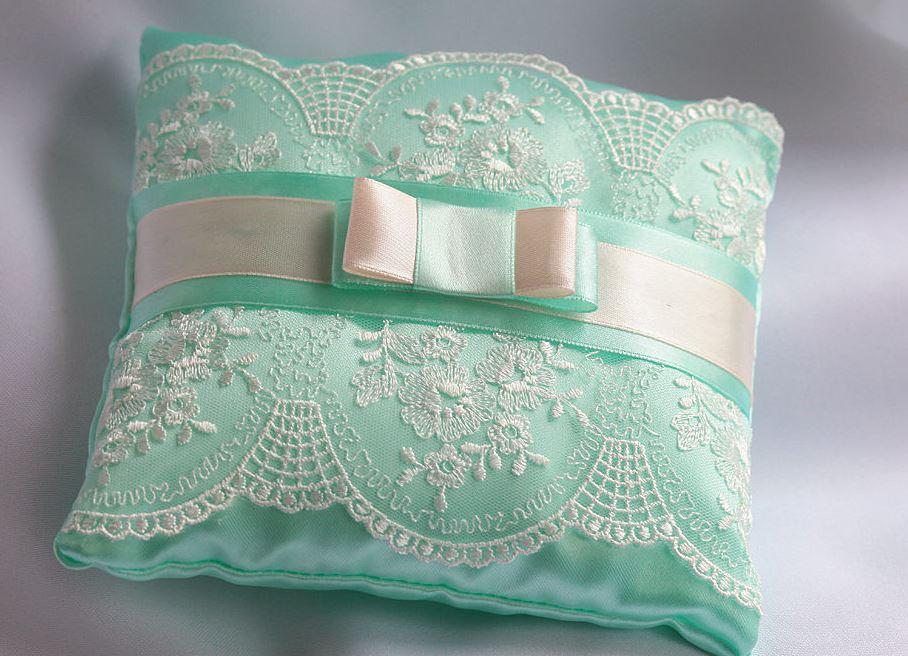Подушка на под кольца на свадьбу своими руками