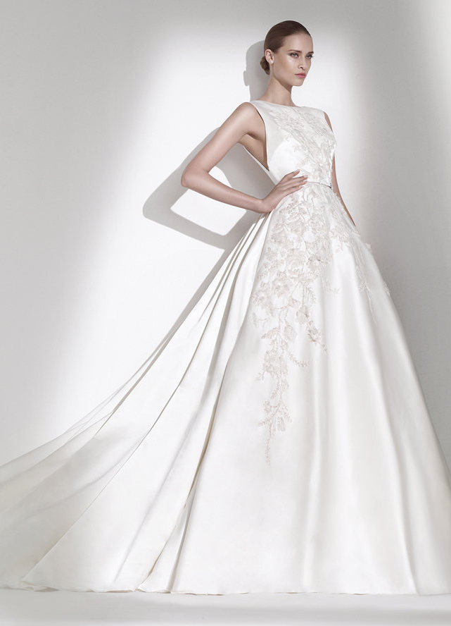 Свадебное платья из шелка