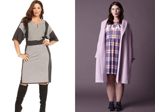 Мода осень платье для полных