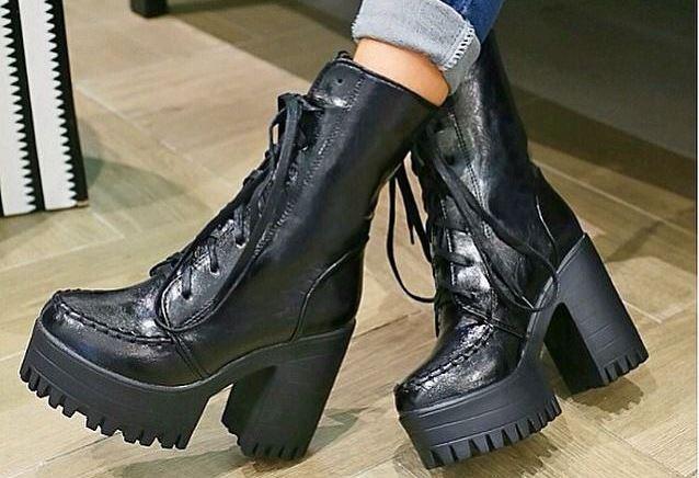 Преимущества модных ботинок на платформе 2015