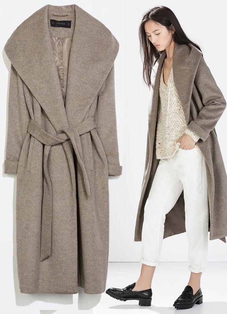 пальто халат фото с чем носить
