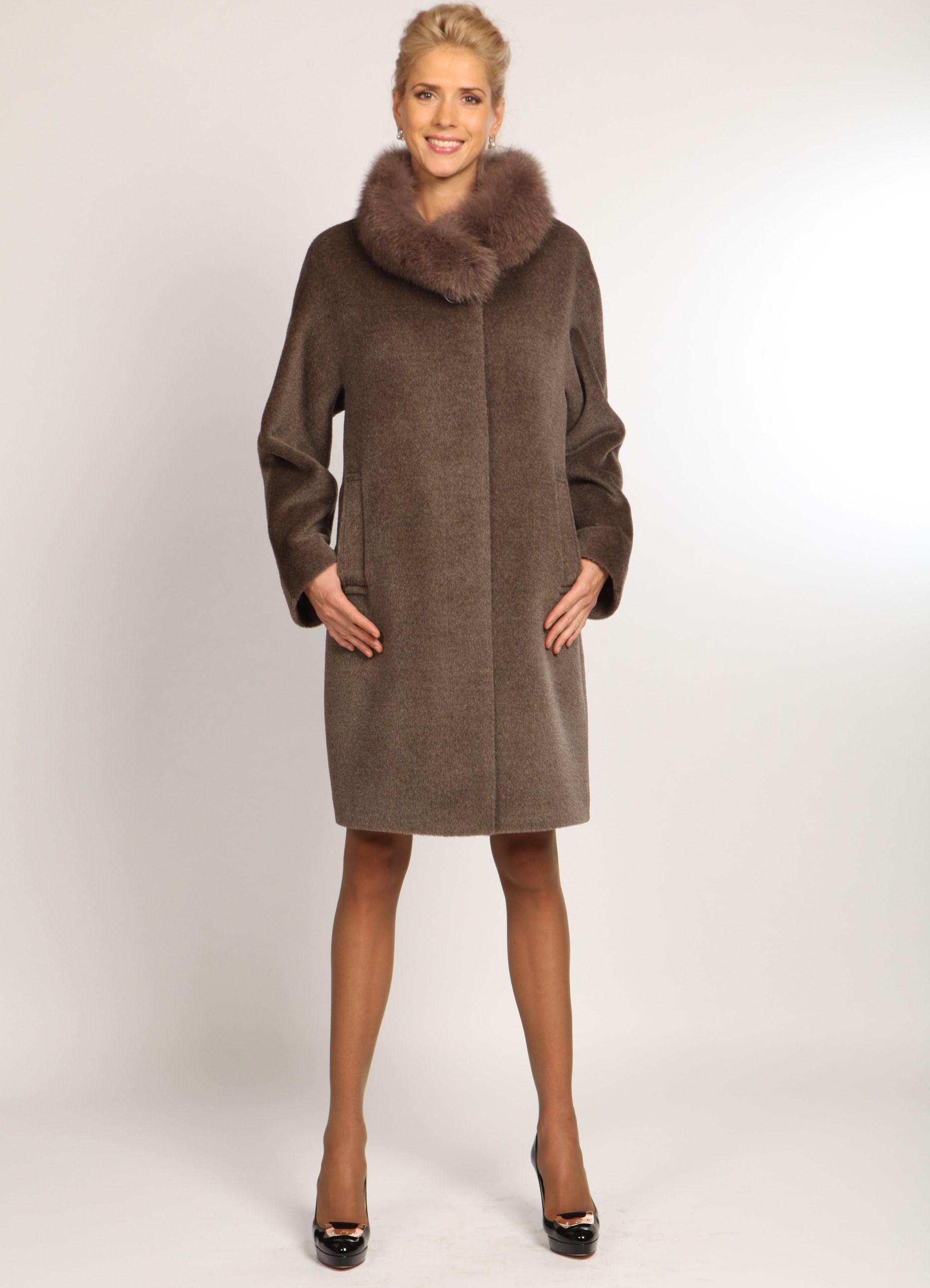 Альпака пальто
