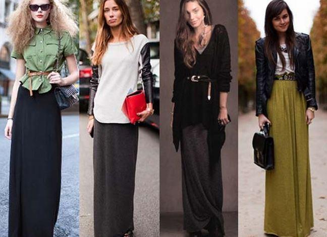 Стиль длинная юбка с чем носить