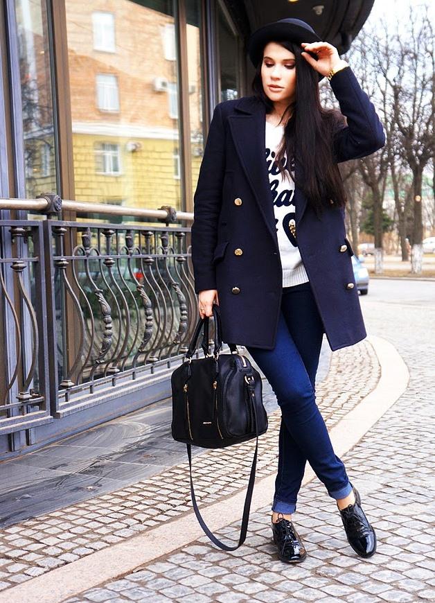 Ботинки лакированные женские с чем носить