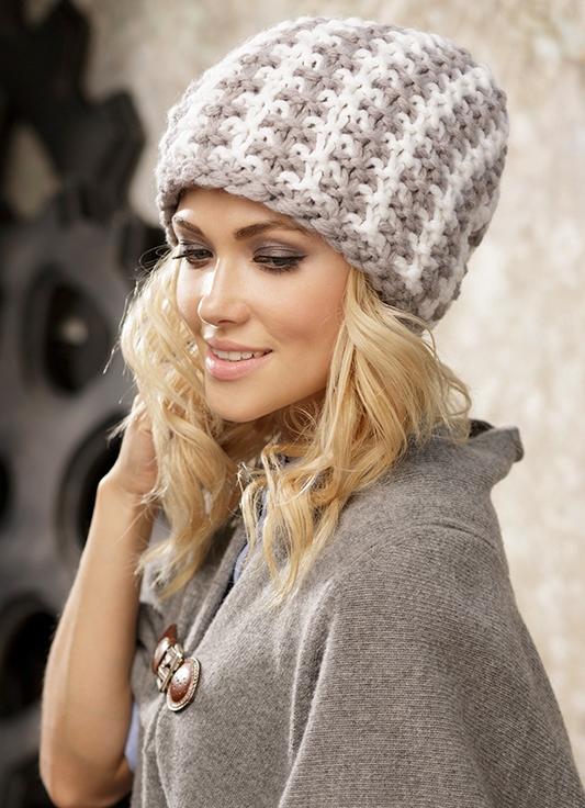 Вяжем шапку из крупной пряжи 10