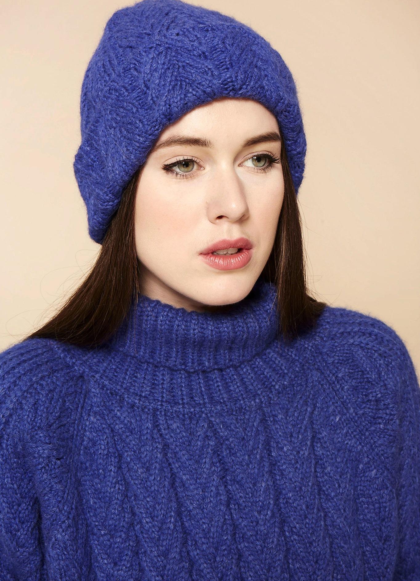 Модные вязаные шапки сезона осень-зима, фото фасонов для женщин 2
