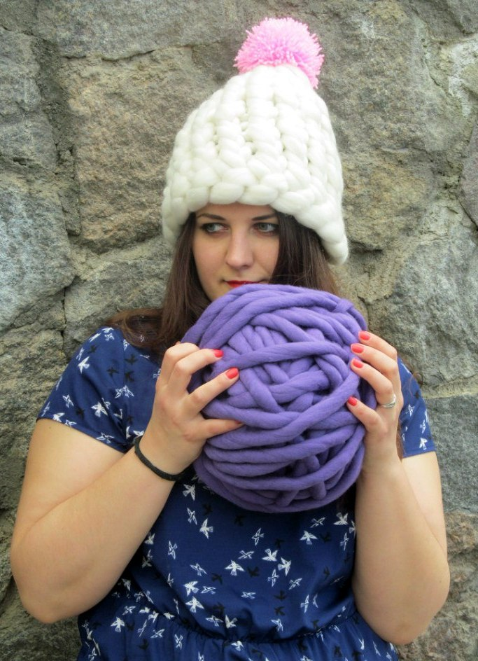 Необычные вязаные шапки