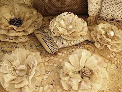 Цветы в стиле шебби шик своими руками