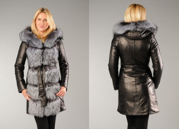 Купить Кожаное Пальто С Мехом