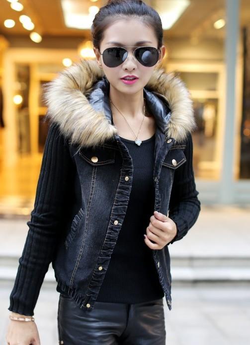 Зимние джинсовые куртки