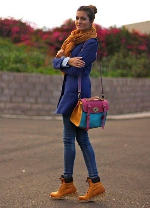 С чем носить коричневые женские брюки новые фото